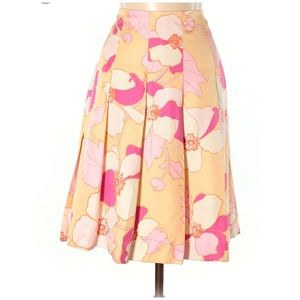 Banana Republic • Floral Pleated Midi Skirt